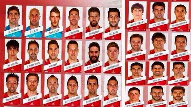 قائمة اسبانيا لكأس العالم بالبرازيل