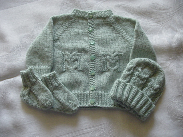 Cozys Corner Little Owl Sweater Set Pattern