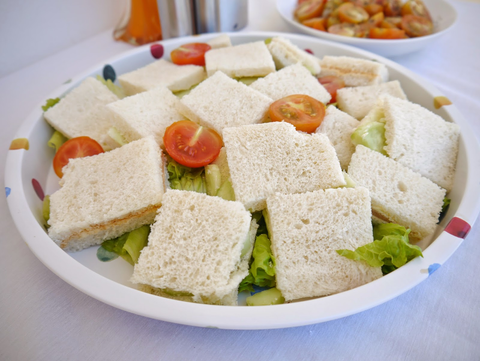 English sandwiches on Emma Bridgewater tray