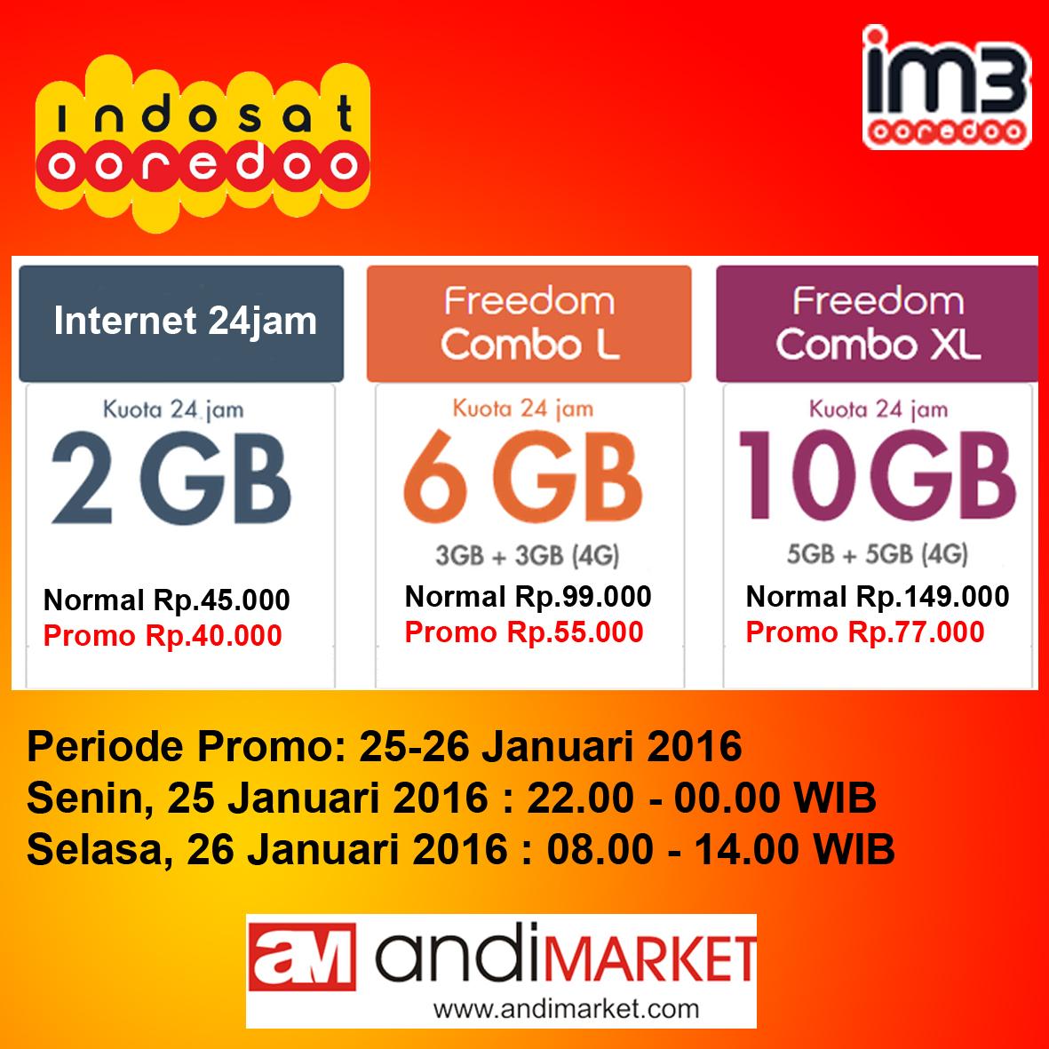 Promo Internet Indosat Distributor Pulsa Dan Voucher Game Online Kuota 3gb
