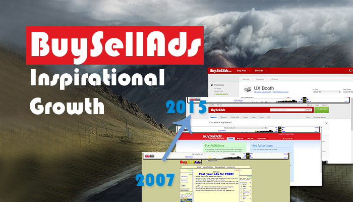 BuySellAds Inspirational Growth Time Lapse! 2007-2015!