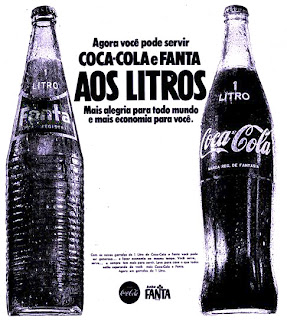 propaganda Coca Cola e Fanta litro - 1970, 1970. História da década de 70. Propaganda nos anos 70. Brazil in the 70s. Oswaldo Hernandez.
