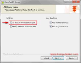 cara mempercepat download dengan flashget