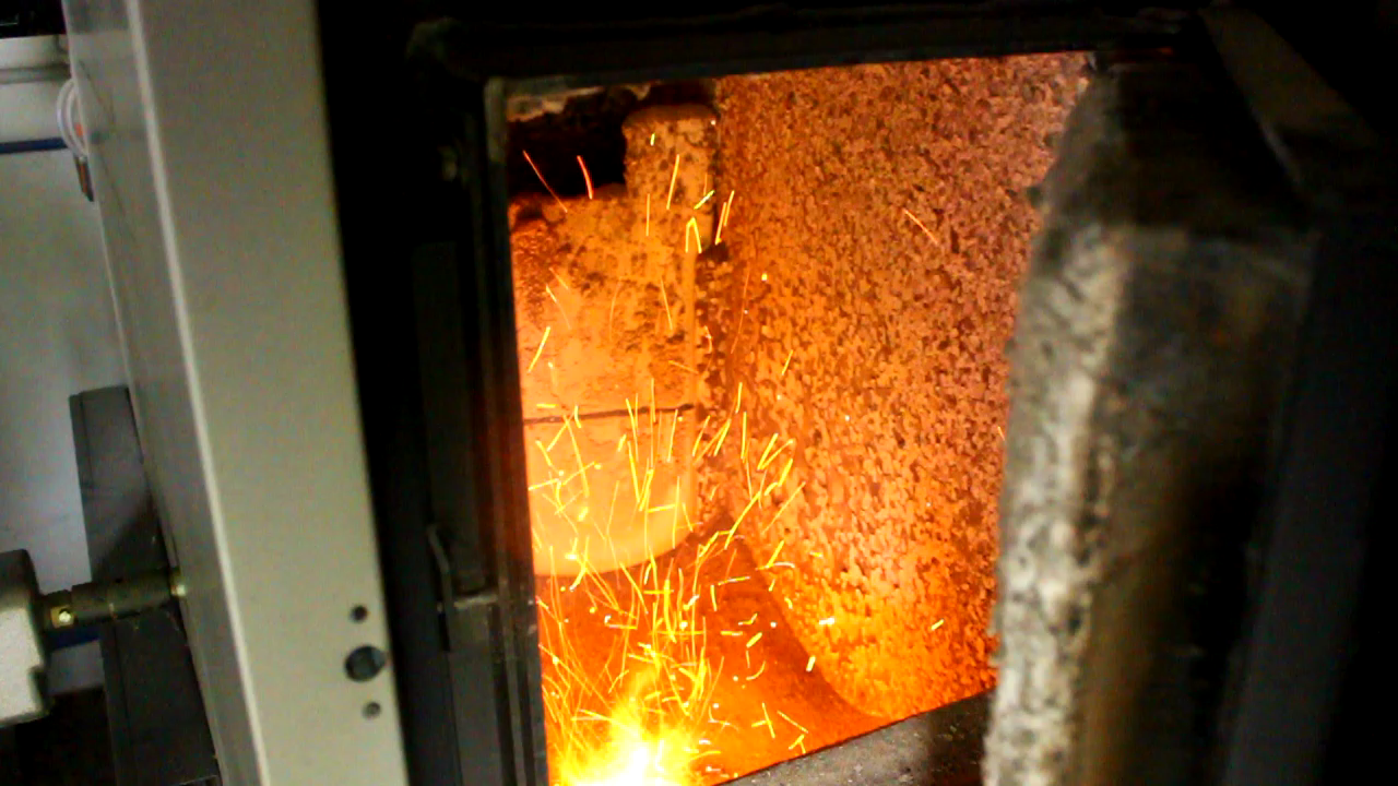 Firebox of the Fröling Turbomatic Biomass heater