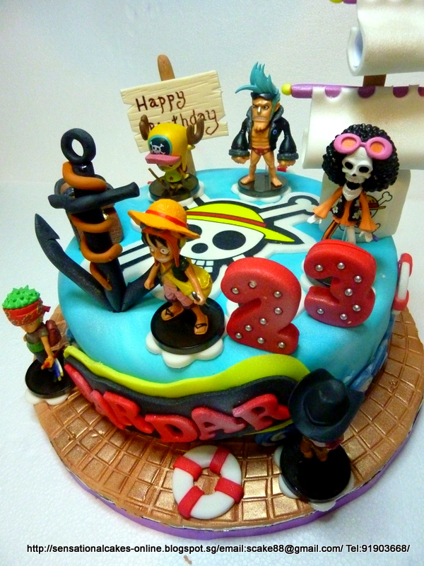 One Piece Pirate Warriors Birthday Cake Image Inspiration of Cake