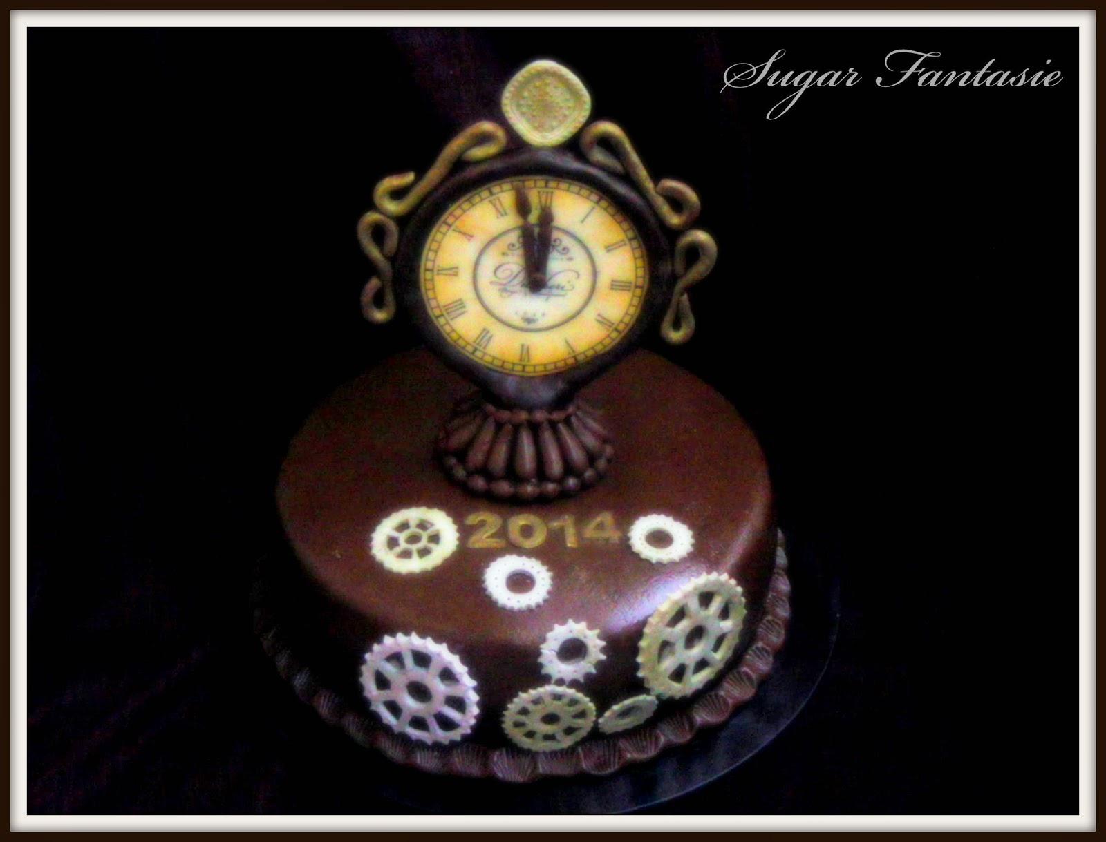 Szilveszteri óra torta