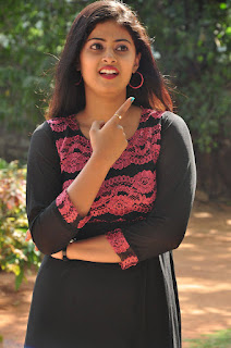 Megha Sri in Spicy Transparent Black Short Gown Lovely Silky Dress