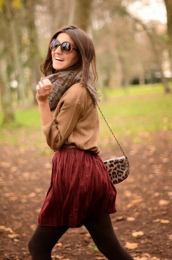 Flirty fall skirt
