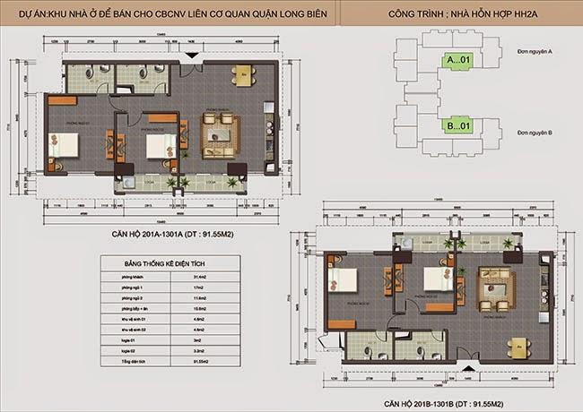 căn hộ A01 - B01