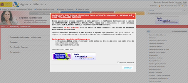 Notificación Electronica Obligatoria para Sociedades Anónimas y Limitadas