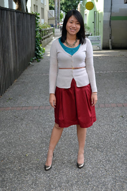 sacramento office fashion blogger angeline evans the new professional hm cardigan limited top target skirt kate spade pumps