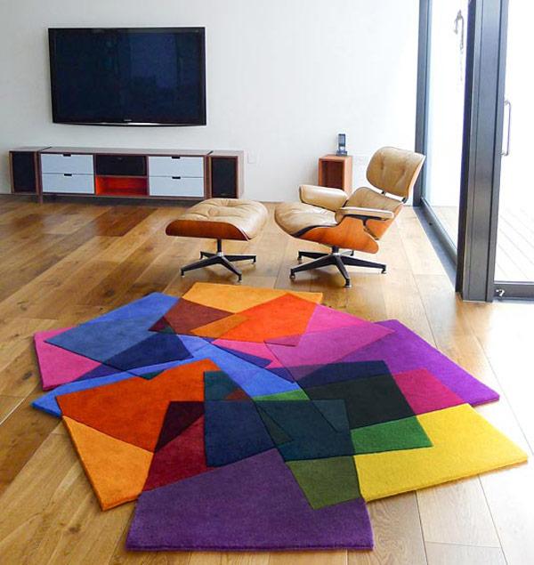 Arquitectura interior design alfombras contempor neas frescas y coloridas de sonya winner - Alfombras contemporaneas ...