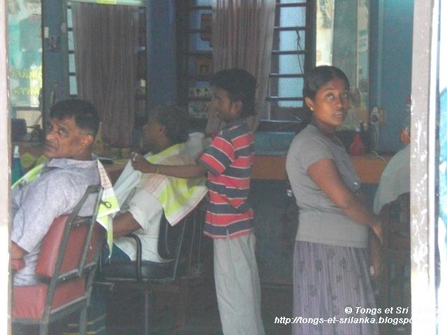 barbier au Sri Lanka