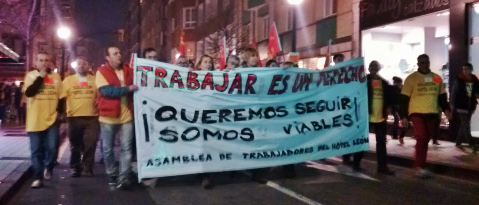 CJC-PCPE apoyando a los trabajadores del Hotel León en Gijón Hotel+Leon+(1)