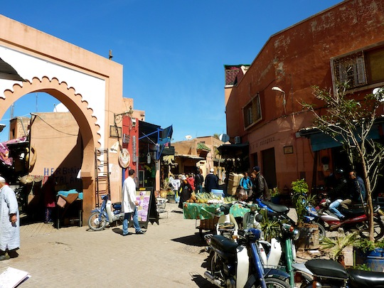 The Medina in Marrakech