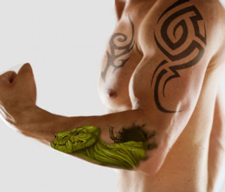 hawaian turtle forearm design for men