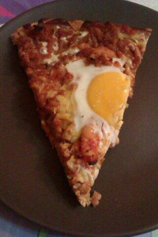 Pizza Barbacoa De Carne Picada De Pavo Y Filetes De Pavo.