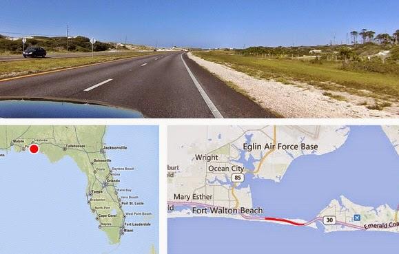 Fahrt zwischen Fort Walton Beach und Destin - Santa Rosa Island
