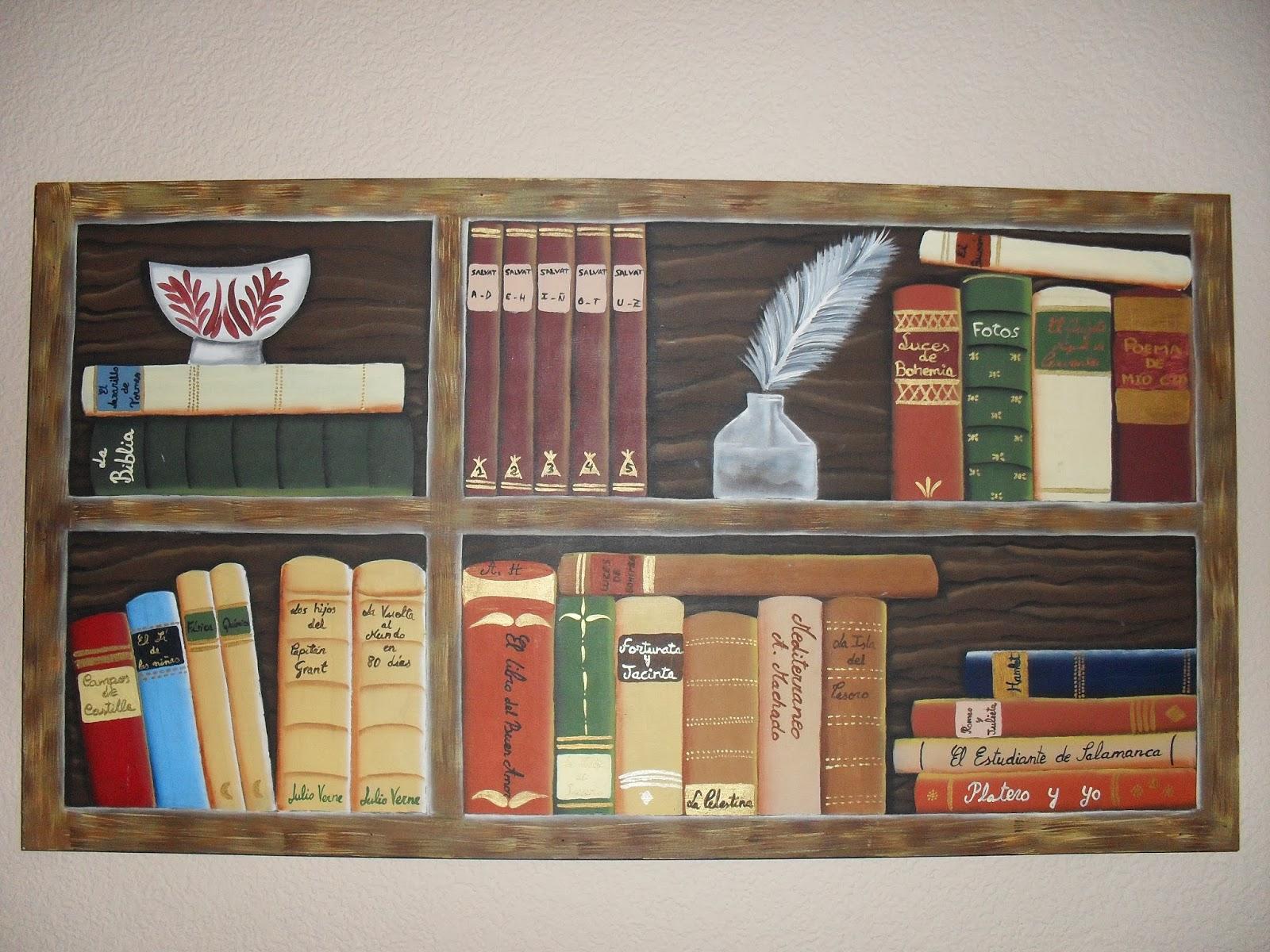 Cuadro con libros