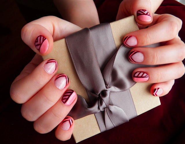 Pretty (Squared): Geometric Talons Nail Art- Essie Van D Go, American Apparel Polish