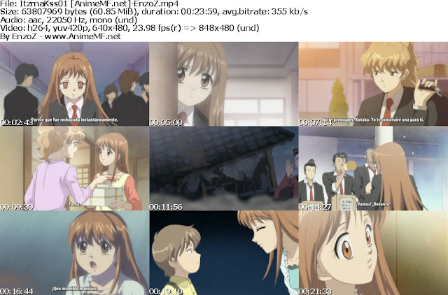 Capturas del primer capitulo de Itazura na Kiss (Anime)