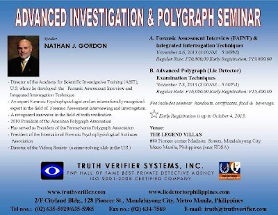 Advanced Investigation and Advanced Polygraph