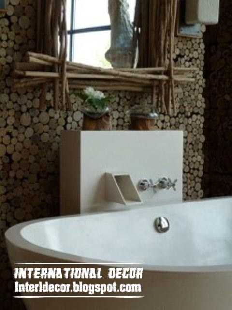 wooden bathroom decor