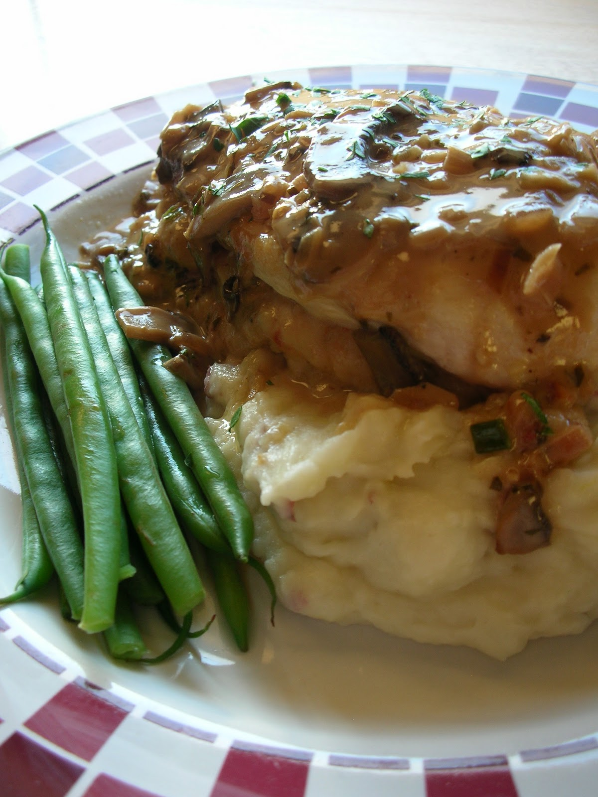 Basil stuffed chicken marsala for Olive garden stuffed chicken marsala