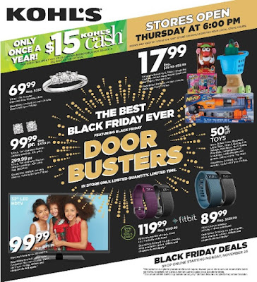 KOHL'S 2015 BLACK FRIDAY AD FLYER