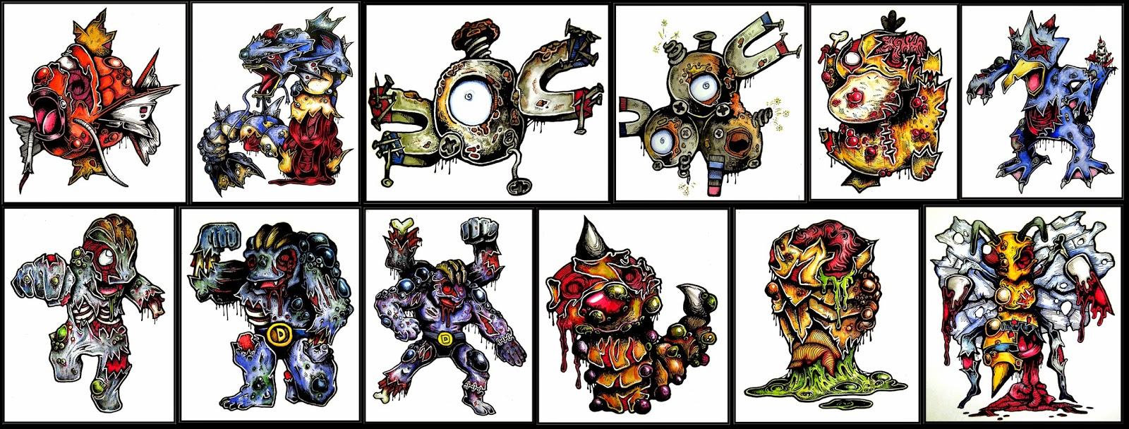 Zombie Pokemon Pokedex Daryl Hobson Artwork