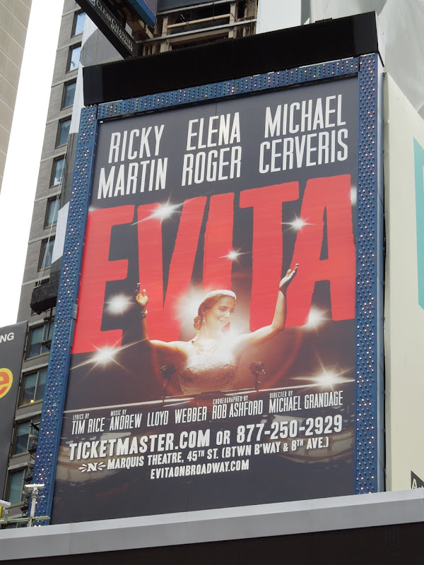 Evita musical billboard Times Square NYC