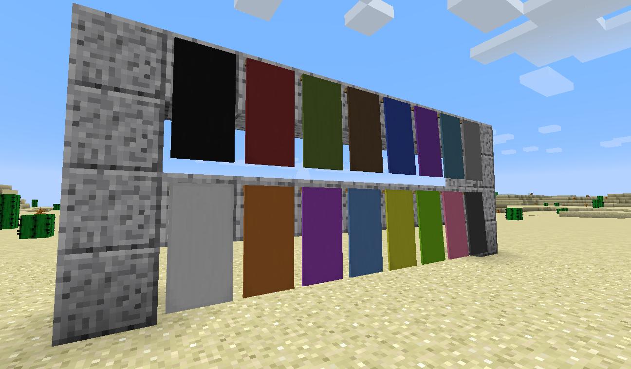 Открытый поток: Флаги и знамёна в Minecraft 1 8
