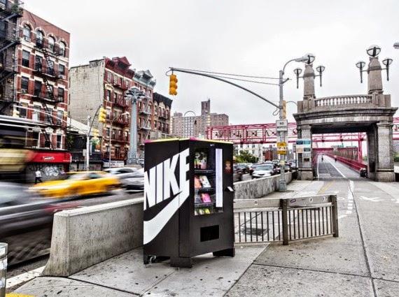Acción de street marketing de Nike en pleno Nueva York
