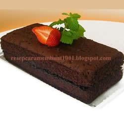mengikuti cara membuat Cake Kukus Coklat, ini hasilnya
