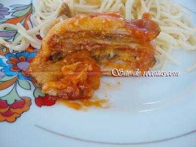 Berinjela siciliana de forno