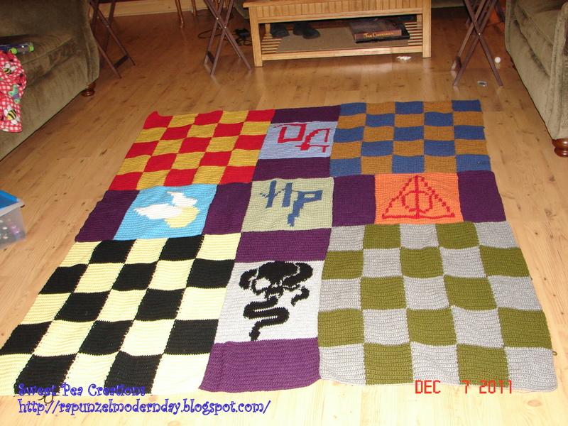 Modern Day Rapunzel Harry Potter Blanket 1