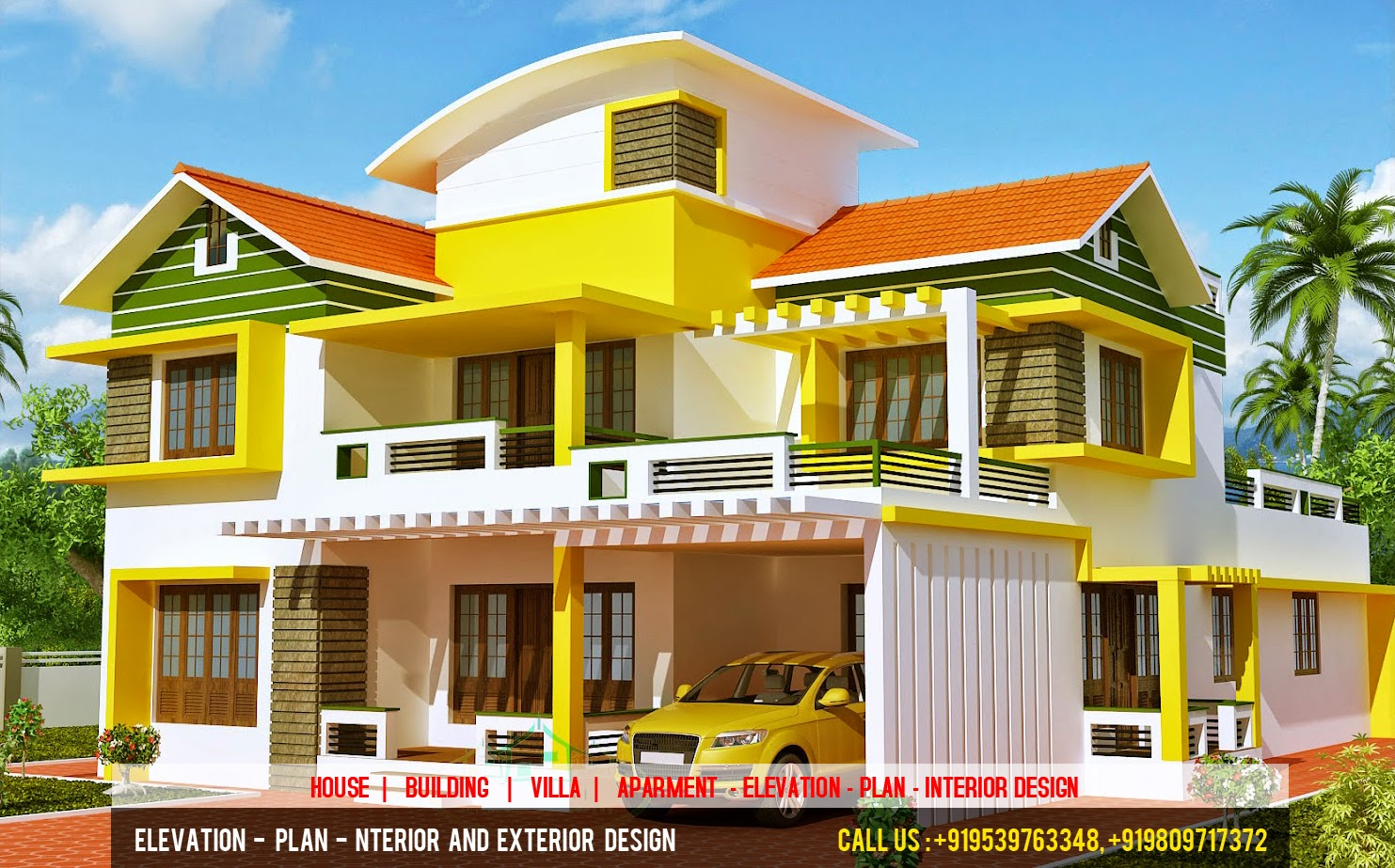 3d elevation plan designer best 3d elevation plan for Best villa plans