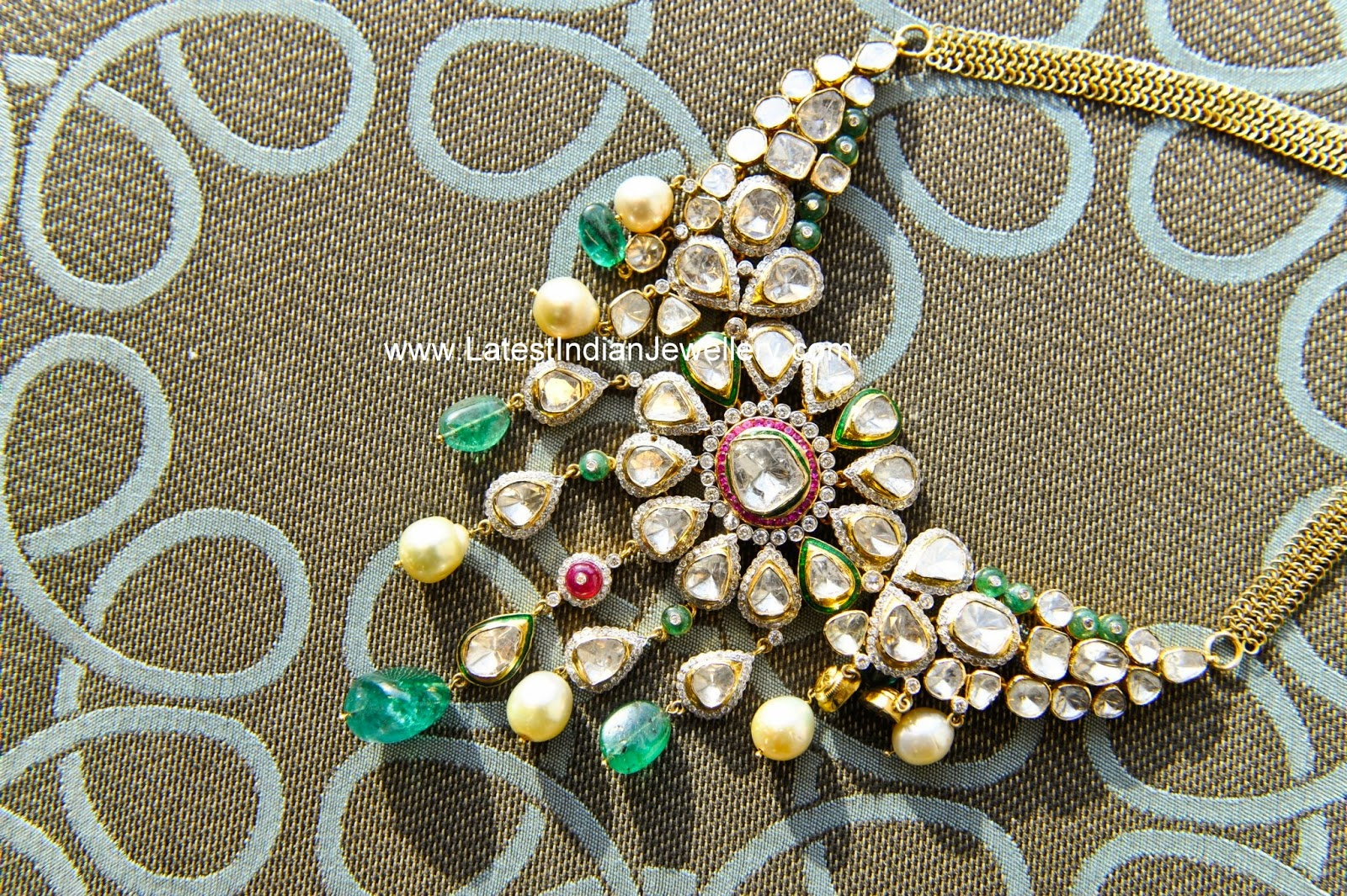 polki diamond bridal jadau necklace