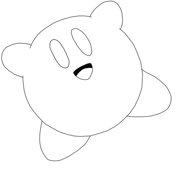 cute kirby coloring pages pictures