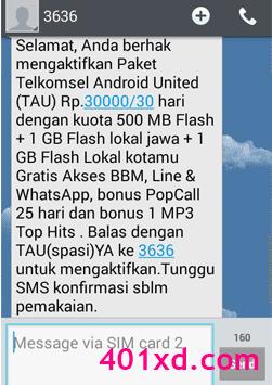 Cara Membeli Paket Telkomsel Android United | TAU 4.5GB 30 Ribu 30 Hari