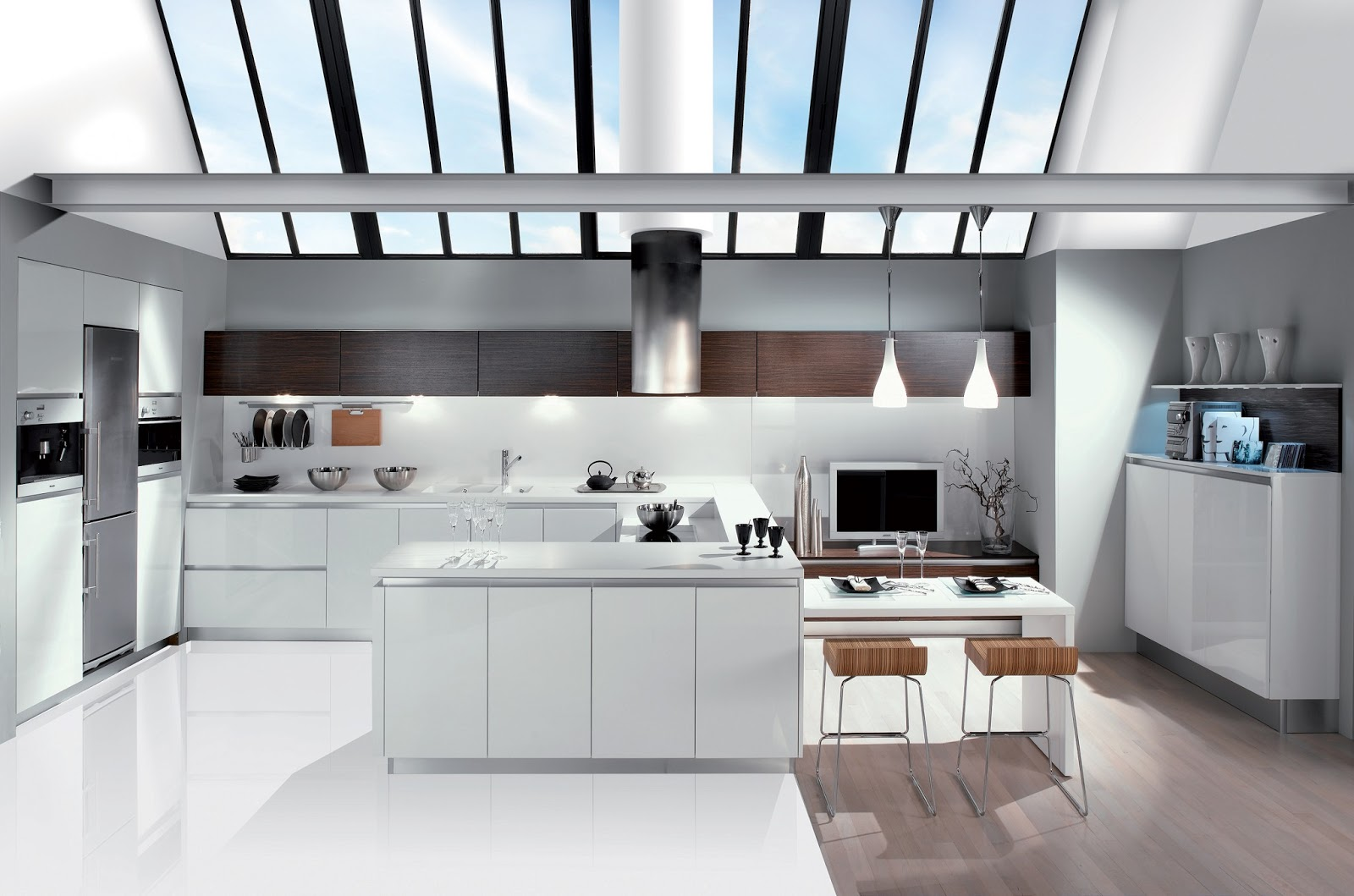 Cuisine contemporaine for Cuisine design blanc