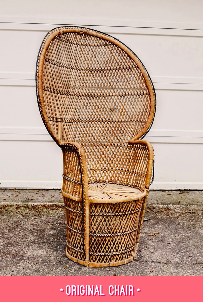 DIY Vintage Rattan Chair makeover