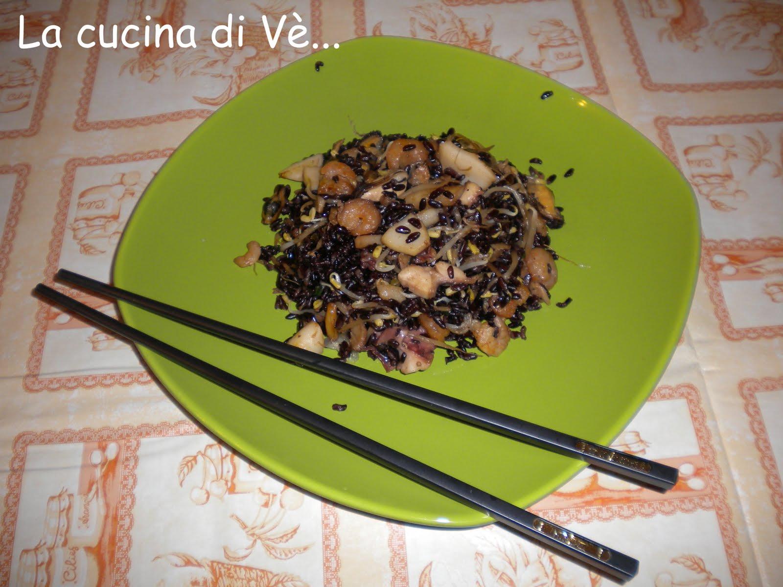 La cucina di v riso venere ricco con germogli di soia for Lecitina di soia in cucina