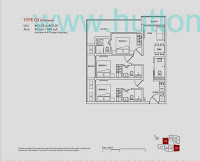 8 Farrer Suites 2 Bedrooms Floor Plan