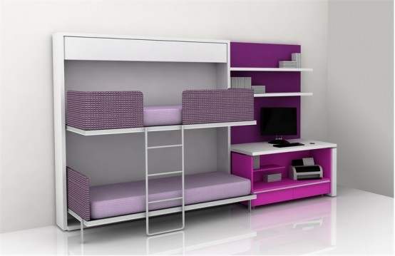 Teen room furniture for small kids bedroom by clei design interior and exterior - Cool teen bedroom furniture ...