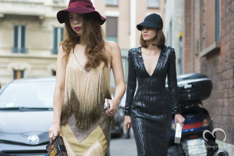 Ploy Chava and Aey Pannatorn at Milan Fashion Week 2015 Spring Summer MFW