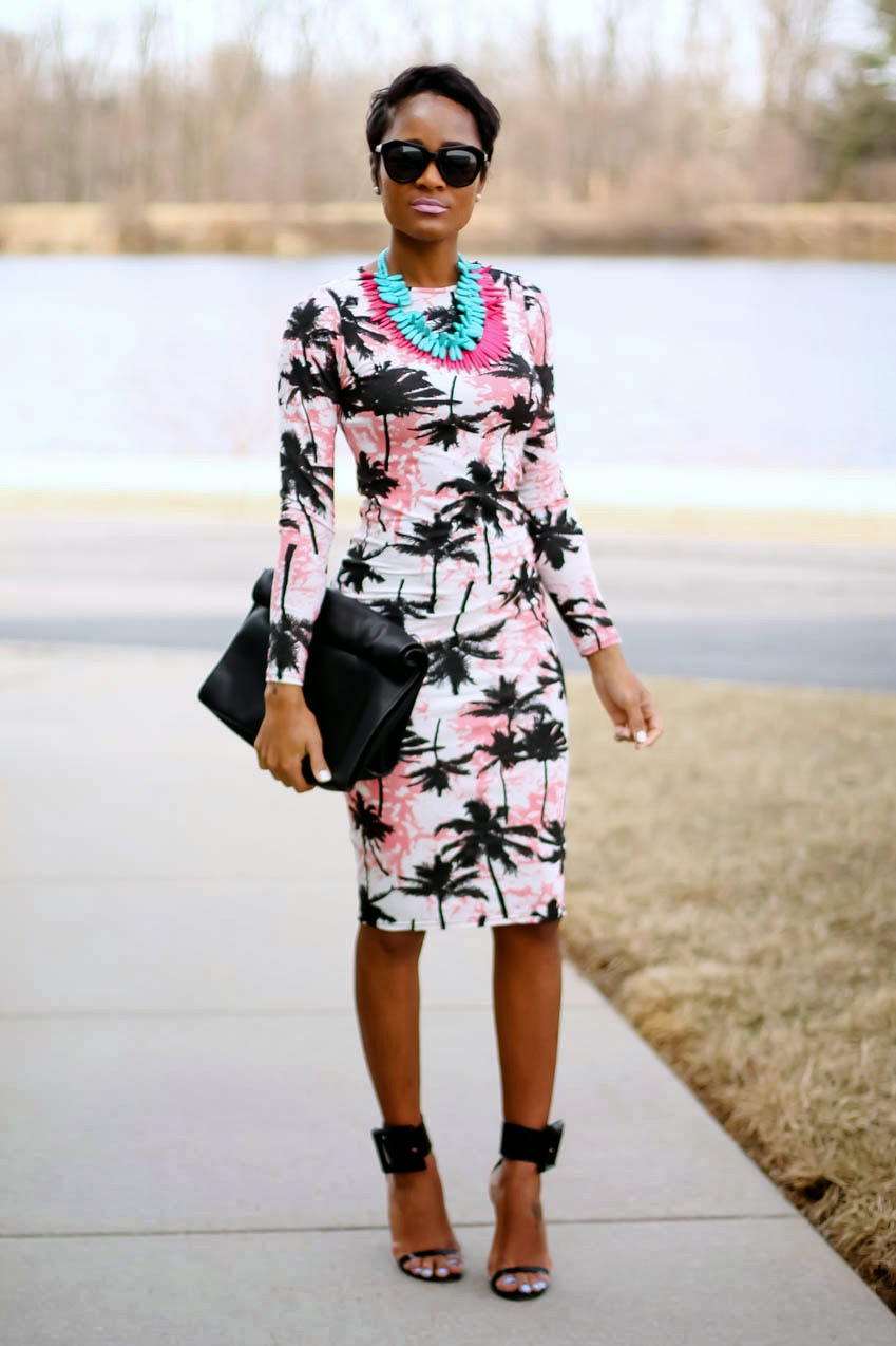 palm-tree-print-dress