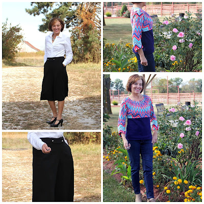 Itch to Stitch Birthday Blog Tour - Girls in the Garden version of the Emily Culottes and the Kathryn Top