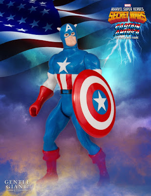 "Marvel's Secret Wars Captain America 12"" Jumbo Vintage Action Figure by Gentle Giant"