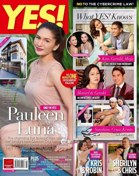 YES Magazine March 2013 Issue Probes Maja-Kim, Gerald-Maricel Controversies